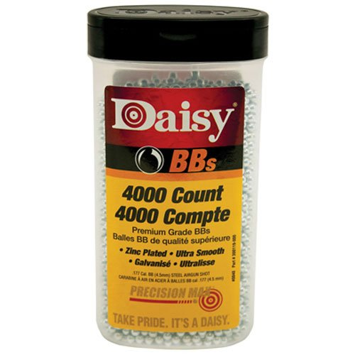 Daisy Outdoor Products 4000 Ct BB Bottle (Silver, 4.5 Mm)