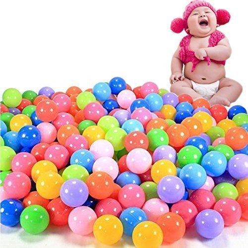 toyofmine 200pcs Colorful Ball Ocean Balls Soft Plastic Ocean Ball Baby Kid Swim Pit Toy Ship from USA by HotEnergy by HotEnergy