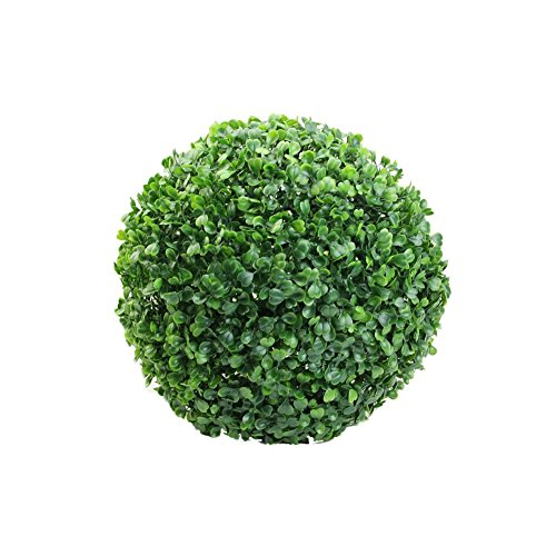 Bluelans Boxwood Topiary Ball Artificial Topiary Plant Wedding Decor Indoor/Outdoor Artificial Plant Ball Topiary Tree (18cm/7