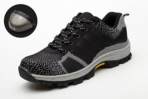 3585ea045085 Noir Tqgold® Avec Sécurité Embout En Travail Chaussures Chaussure  Protection Homme De Acier Femme Orq70OgF