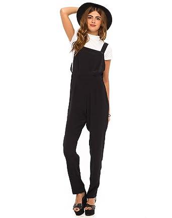 3878375a297 Motelrocks - Motel Sherri Pinafore Jumpsuit in Black  Amazon.co.uk  Clothing