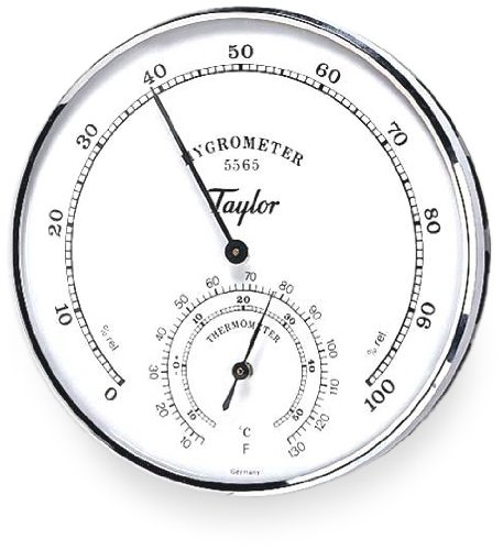 Taylor Hygrometer Thermometer Diameter Degrees