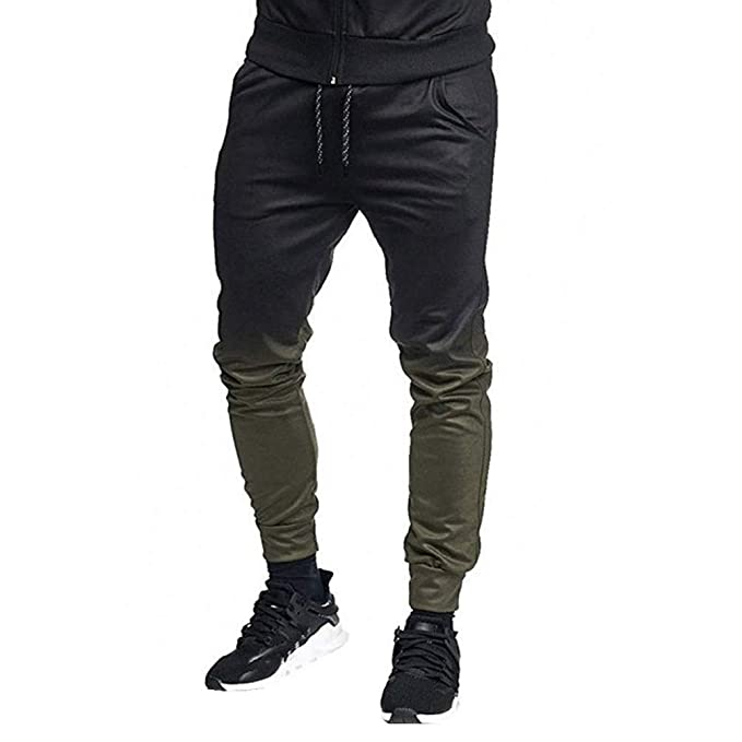 select for newest convenience goods get new Photno Men's Slim Fit Pants Casual Colorblock Joggers Sweatpants Loose Big  and Tall Sports Trousers with Pockets