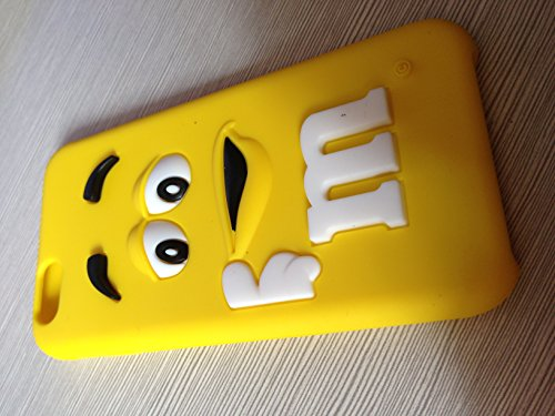 """New Brand Iphone 6(4.7"""")yellow Color Cute 3d Cartoon Milk Chocolate Bean M&m Figer Bean Soft Silicone Back Case for Apple Iphone 6 NEW Cell Phone Protective Skins"""