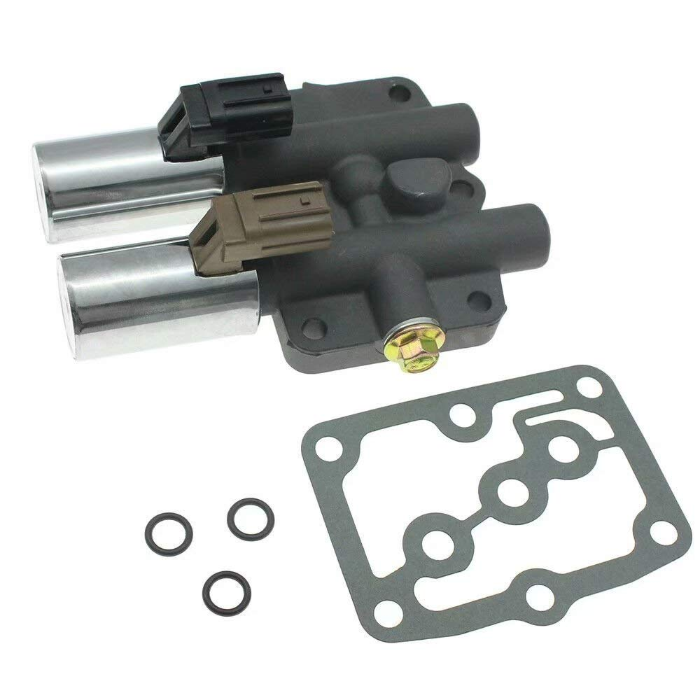 Paddsun Transmission Dual Linear Solenoid Valve with 1PCS Gasket and 3PCS O-Rings for Honda Accord Odyssey Acura CL TL MDX Pilot Prelude Replace OE# 28250-P6H-024 28250P6H024