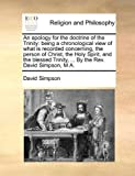 An Apology for the Doctrine of the Trinity, David Simpson, 1170568459