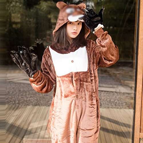 Unisex Piece Di Animale One Sed Usura Inverno s Peluche Pigiami pigiama Adult Svago Costume Cosplay Ispessimento XqwwH7d8