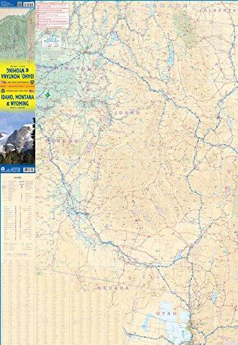 Idaho, Montana, & Wyoming Travel Reference Map