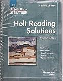 Elements of Literature, RINEHART AND WINSTON HOLT, 0030790417