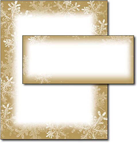 Holiday Stationery (Frosted Holiday Wishes Letterhead & Envelopes - 40 Sets)