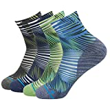 HUSO Unisex Striped Print Athletic Quarter / Ankle Running Hiking Socks 3, 4, 7 Pairs