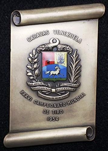 1954 36TH WORLD SHOOTING CHAMPIONSHIPS CARACAS, VENEZUELA PLAQUE IN BOX SCARCE ()