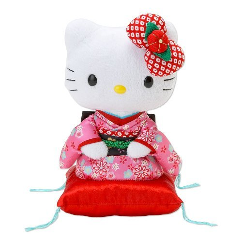 Sanrio Hello Kitty Japanese Kimono Plush Doll 845957 Made in Japan Marushin
