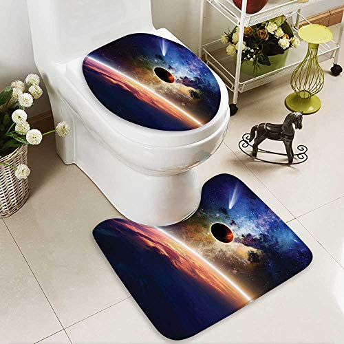 Muyindo Toilet carpet floor mat ComApproaches PlanScientific Realities in Solar System World 2 Piece Shower Mat set by Muyindo