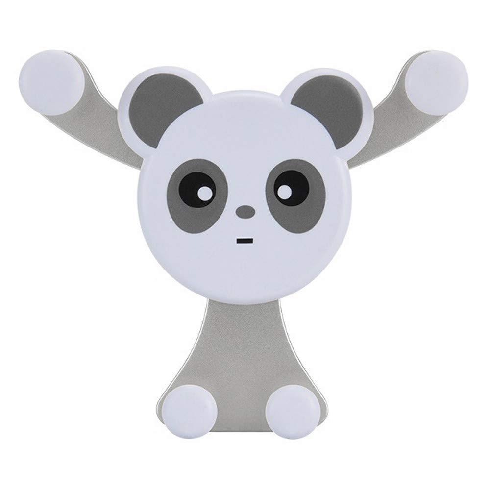 Hug Emoji Car Mount Holder Air Vent Cradle Holder For iphone/Samsung/Oneplus (Panda Silver)