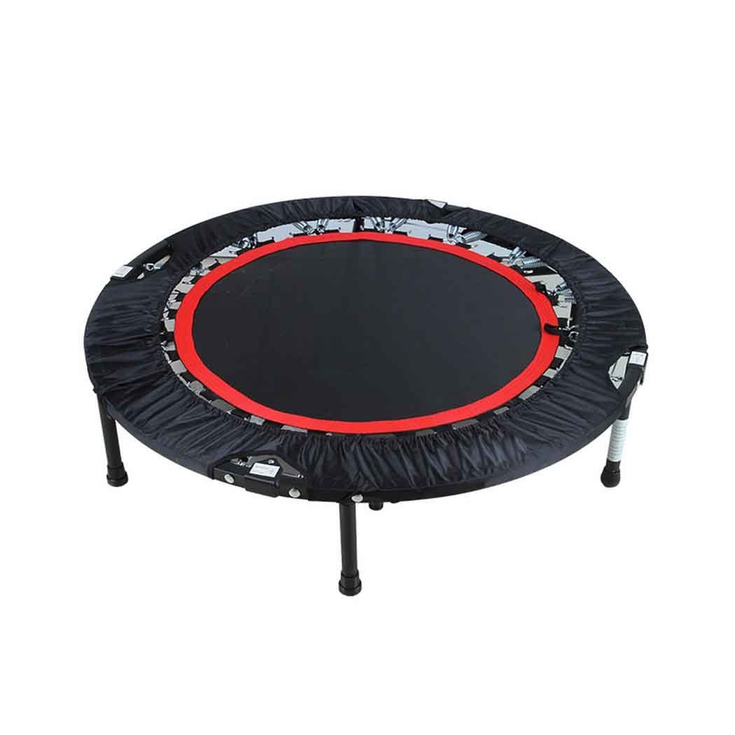 Foldable Mini Trampoline with Adjustable Handle Bar Fitness Rebounder Bungee-Rope-System Trainer for Kids or Adults Zero Stretch Jump Mat - Maximum Load 300lbs by Ferty (Image #2)