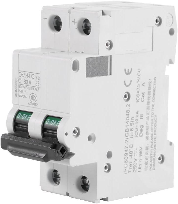 63A Disjoncteur miniature /à basse tension C65H-DC de 250V pour les panneaux solaires 16A 32A 63A