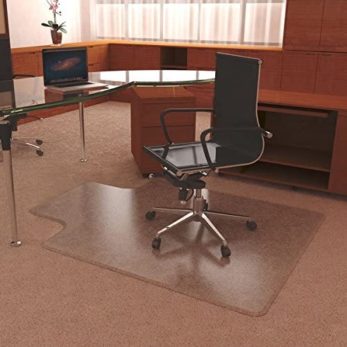 Mat Depot Premium Beveled Edge Chair Mat, With Lip, 45 x 53 inches, 1 4 Thick, Clear