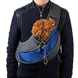 Pet Bag, Hometom Pet Dog Cat Puppy Carrier Mesh Travel Tote Shoulder Bag Sling Backpack (L, Blue)