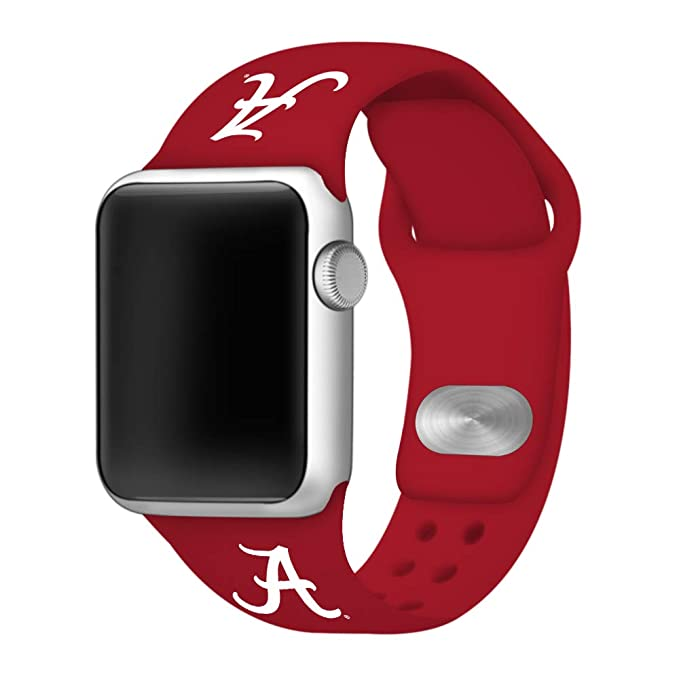 entire collection where to buy best quality Affinity Bands Alabama Crimson Tide 42mm Silicone Sport Band Compatible  Apple Watch - Band ONLY (42mm/44mm Crimson)