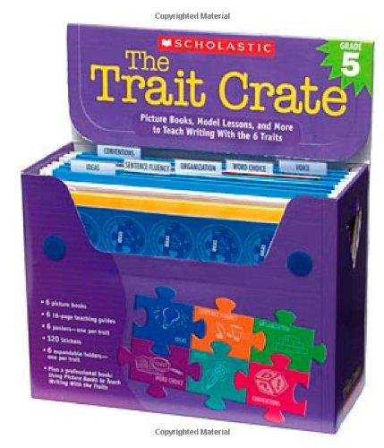 Scholastic Trait Crate, Grade 5, Seven Books, Posters, Folders, Transparencies, Stickers (0439687330)