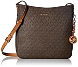 Michael Kors Jet Set Travel Large Logo Messenger - Brown