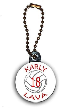 Personalizada de voleibol llavero/Bolsa de etiqueta con ...