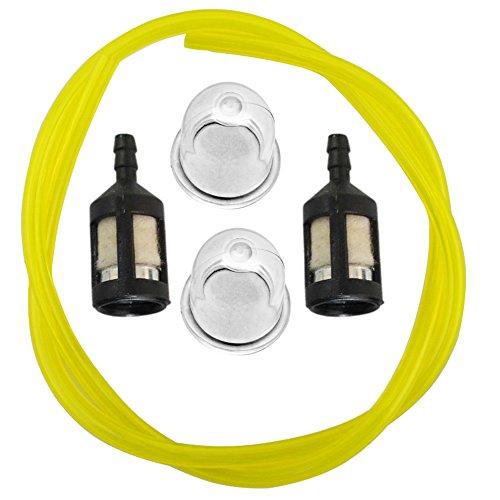 HIPA Primer Bulb + Fuel Filter + Fue Line for Homelite BP250 HB180 HB18V GST GST18 GSTBC HBC18 HBC30 HBC30B HGT HLT15 HLT16 HLT17C HLT18 HLT28 HT17 HT19 ST155 ST175 ST175G ST185 ST275 String Trimmer Blower