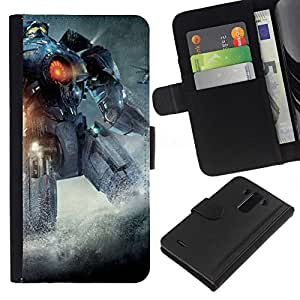 All Phone Most Case / Oferta Especial Cáscara Funda de cuero Monedero Cubierta de proteccion Caso / Wallet Case for LG G3 // Pacific Rem Robot