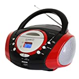 Supersonic SC-508RED Portable Boombox Stereo CD Player AM FM Electronic Accessories