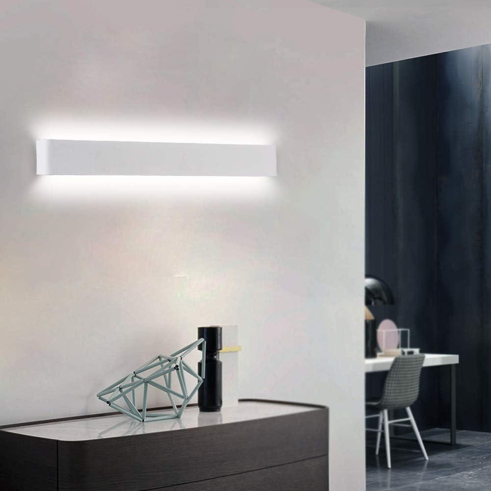 Ralbay LED Wandlampe Up /& Down Wandleuchte Innen Spiegelleuchte Warmwei/ß 3000K Badlampe Wasserdicht 24W f/ür Badzimmer Schlafzimmer Wohnzimmer Treppen 27.9IN Schwarz