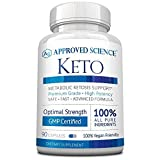 Approved Science® Keto: Pure Exogenous 4 Ketone Salts (Calcium, Sodium, Magnesium and Potassium) and MCT Oil to Boost Ketosis and Burn Fat. 1 Bottle