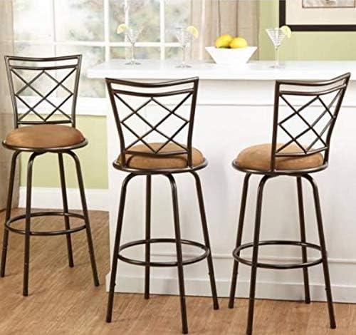 Avery Adjustable Metal Barstools, Set of 3 brown