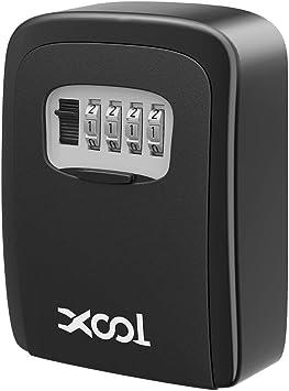 basics Wall Mounted Key Storage Box Black Combination Lock