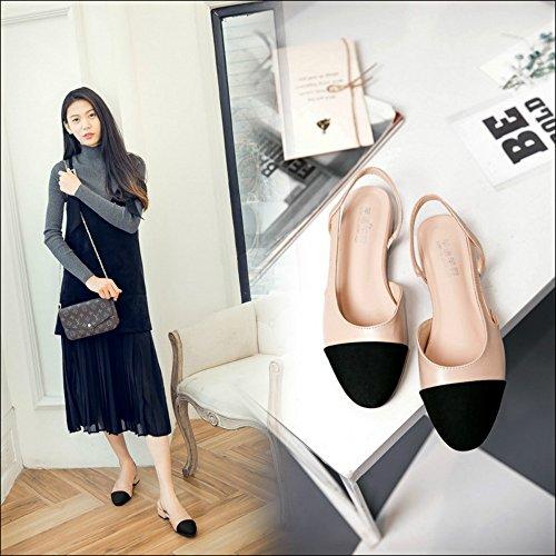 Mujeres Plana Grandes Verano Baotou Xiaoqi De A Juego Mujer Embarazadas Con Rosado Sandalias Zapatos Dulce Color Planas qTwITPH