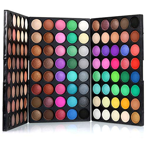 Pure Vie Professional Highlight Eyeshadow Palette Makeup Contouring Kit - 120 Colors Highly Pigmented Nudes Warm Natural Matte Shimmer Cosmetic Eye Shadows Pallet Powder Palette - Holiday Gift Set ()