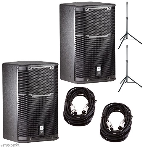 Pair Of JBL PRX 412 Speakers w/ SpeakOn to 1/4'' Cable and St... by JBL