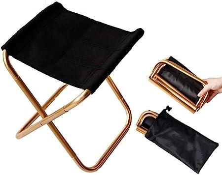 Mini tabouret de chaise pliante portable avec pochette en