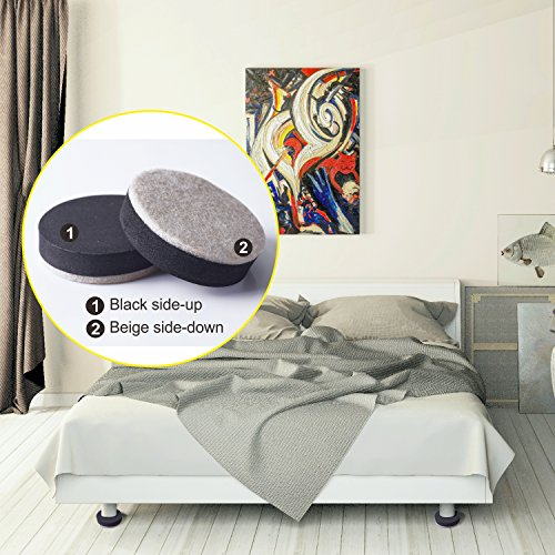Furniture Sliders Moving Kit & Corner Guards for Carpeted and Hard Floor Surfaces Felt Pads Suitable For All The Furniture Sliders (20 Piece) by FittiDoll (Image #4)