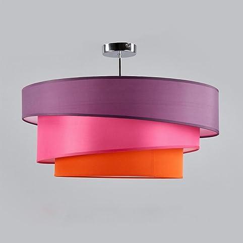 Deckenleuchte Runde Deckenlampe Decken Beleuchtung Wohnzimmer Schlafzimmer Esszimmer Kuche Flur Licht Stoff Metall Lampe 3 Farbe