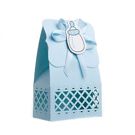 AchidistviQ - Juego de 12 Bonitas Cajas de Regalo para Dulces, para Baby Shower,