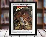 Raiders of The Lost Ark Autograph Replica Print - 5x7 Desktop Framed Print - Portrait