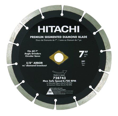 (Hitachi 728743 7-Inch Dry Cut Segmented Rim Diamond Saw Blade for Concrete and Masonry)