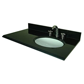 Pegasus 37 In W Granite Vanity Top With Offset Right Bowl And 8 In