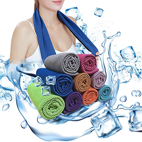 Soar Sports Workout Cooling Towel, Cool Towel Instant Cooling Relief, Chilling Neck Wrap, Ice Cold Scarf For Men Women, Microfiber Bandana - Evaporative Chilly Towel For Yoga Golf Travel Gym 1 Pack