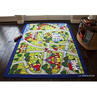 8x10 Kids Boys Children Toddler Playroom Rug Nursery Room...