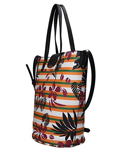 Doppio 9882r Mano Kos Donna Jo Sacchetto Multicolore Borsa Di Liu Secchiello Tropicale 7HR8qc1