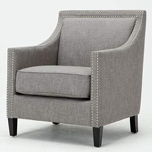 Reviewed: Comfort Pointe Taslo Gray Fabric Accent Chair