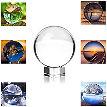 Amazon com: Photograph Crystal Ball with Stand and Pouch, K9