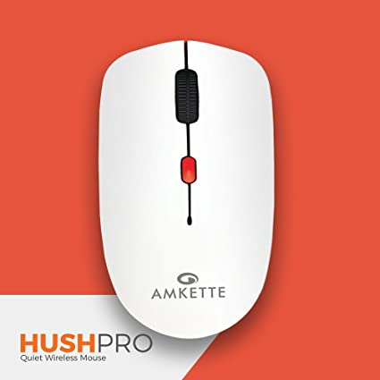 96d74f4c048 Amkette HushPro-The Quiet Wireless Mouse for Laptop/PC/Desktop (White-Red)  - Buy Amkette HushPro-The Quiet Wireless Mouse for Laptop/PC/Desktop (White- Red) ...